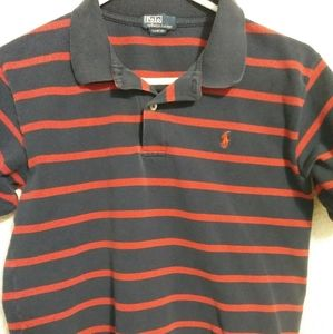 Navy and red boys Polo